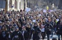 В Киеве прошел Марш женщин, не обошлось без столкновений (добавлены фото)