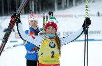 Біатлон: Вірер з перевагою в півсекунди виграла спринтерську гонку на етапі Кубка світу