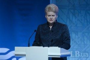 Грибаускайте исключила возможность снятия санкций с России