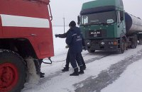 У Рівненській та Львівській областях обмежили рух транспорту через погодні умови
