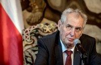 Сенат Чехии обвинил президента Земана в нарушении Конституции