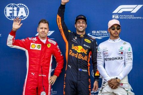 "Риккардо на ""Ред Булл"" выиграл квалификацию Гран-При Монако в Формуле 1"