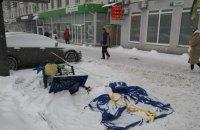 В Киеве напали на агитационные палатки «Народного фронта»