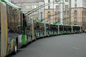 В Харькове троллейбусы и трамваи вышли на маршруты
