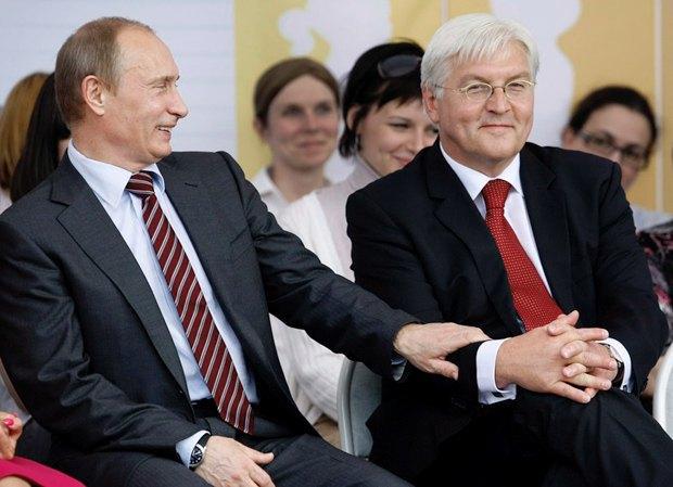 Путин и Штайнмайер во время встречи в Москве