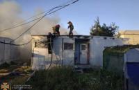 На базе отдыха в Затоке произошел масштабный пожар