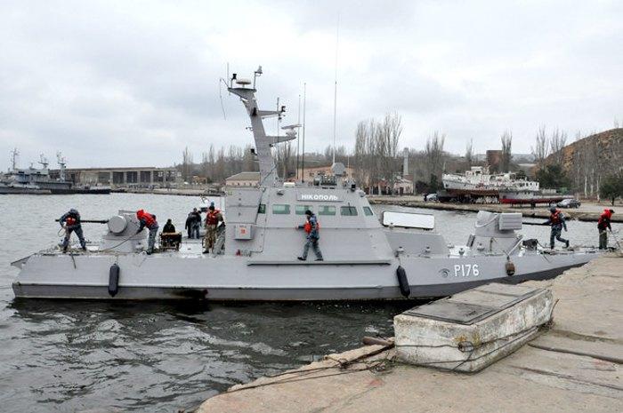 Звільнені з російського полону кораблі ВМС в порту Очаків