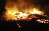 У Житомирській області згоріла дерев'яна церква УПЦ МП