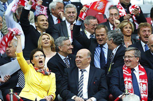 Спікер польського парламенту Єва Копач під час матчу Польща-Росія