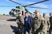 Британский министр Уильямсон посетил передовую на Донбассе