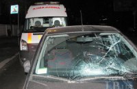 В Киеве Ford сбил двух милиционеров на пешеходном переходе