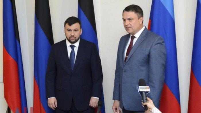 Ставленники Кремля в «ДНР» и «ЛНР» Денис Пушилин и Леонид Пасечник