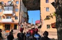 У Дрогобичі впала ще одна плита в обваленому будинку