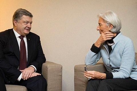 Порошенко обсудил с Лагард назначение главы НБУ