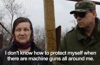 Мешканка Широкиного попросила бойовиків залишити село Україні