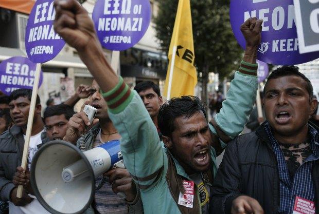 Марш против расовой дискриминации в Афинах