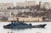 Флагман ЧФ России взял курс в сторону материковой части Украины