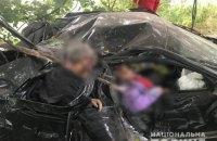 На Київщині 71-річний водій влетів у дерево, загинуло троє пасажирів