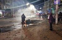 Прорыв теплосети в центре Киева ликвидировали, но обнаружили новые повреждения