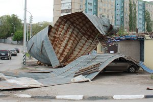 У Луганську ураган завдав збитків на 5 млн гривень