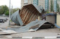 В Луганске ураган нанес ущерб на 5 млн гривен