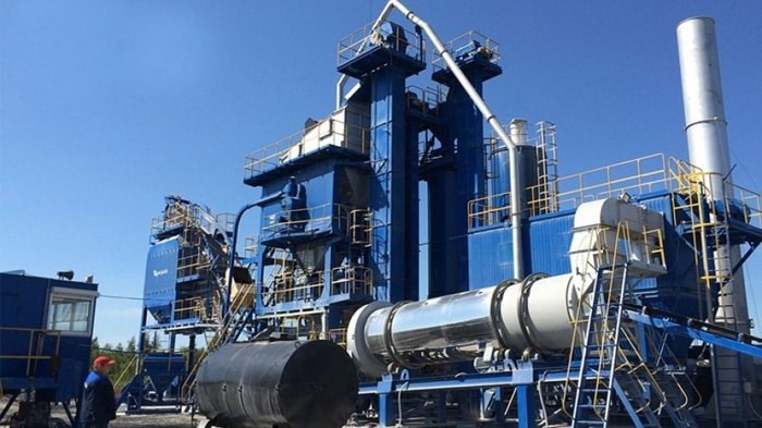 Продукция кременчугского «Кредмаша» — асфальтосмесительная установка