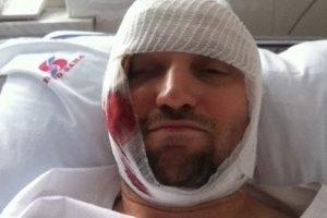 Избитый анархист обещает 250 тыс. гривен за информацию об обидчике