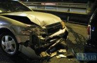На Южном мосту в Киеве столкнулись четыре автомобиля