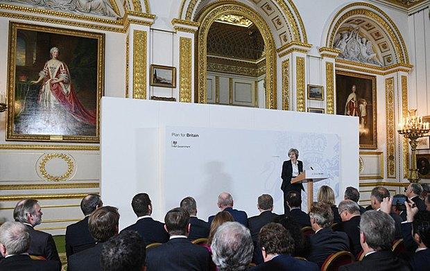 Тереза Мей виступає з промовою щодо Brexit в Ланкастер-Хаус, Лондон, 17 січня 2017