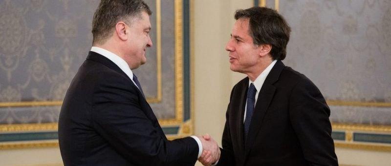 Петр Порошенко и Энтони Блинкен