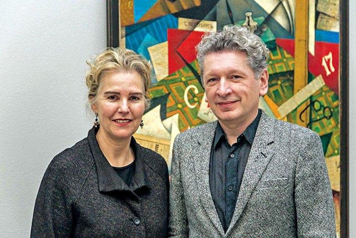 Директор музея изящных искусств в Генте Катрин де Зегер и Игорь Топоровский