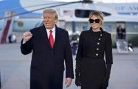 Дональд Трамп покинул Белый дом. Видео