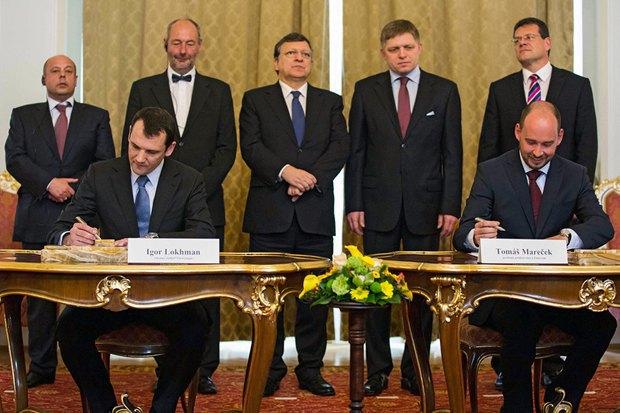 Церемонії піписання меморандуму Словаччина-Україна у Братиславі