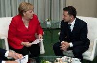 """Зеленский и Меркель обсудили подготовку к встрече лидеров """"нормандской четверки"""""""