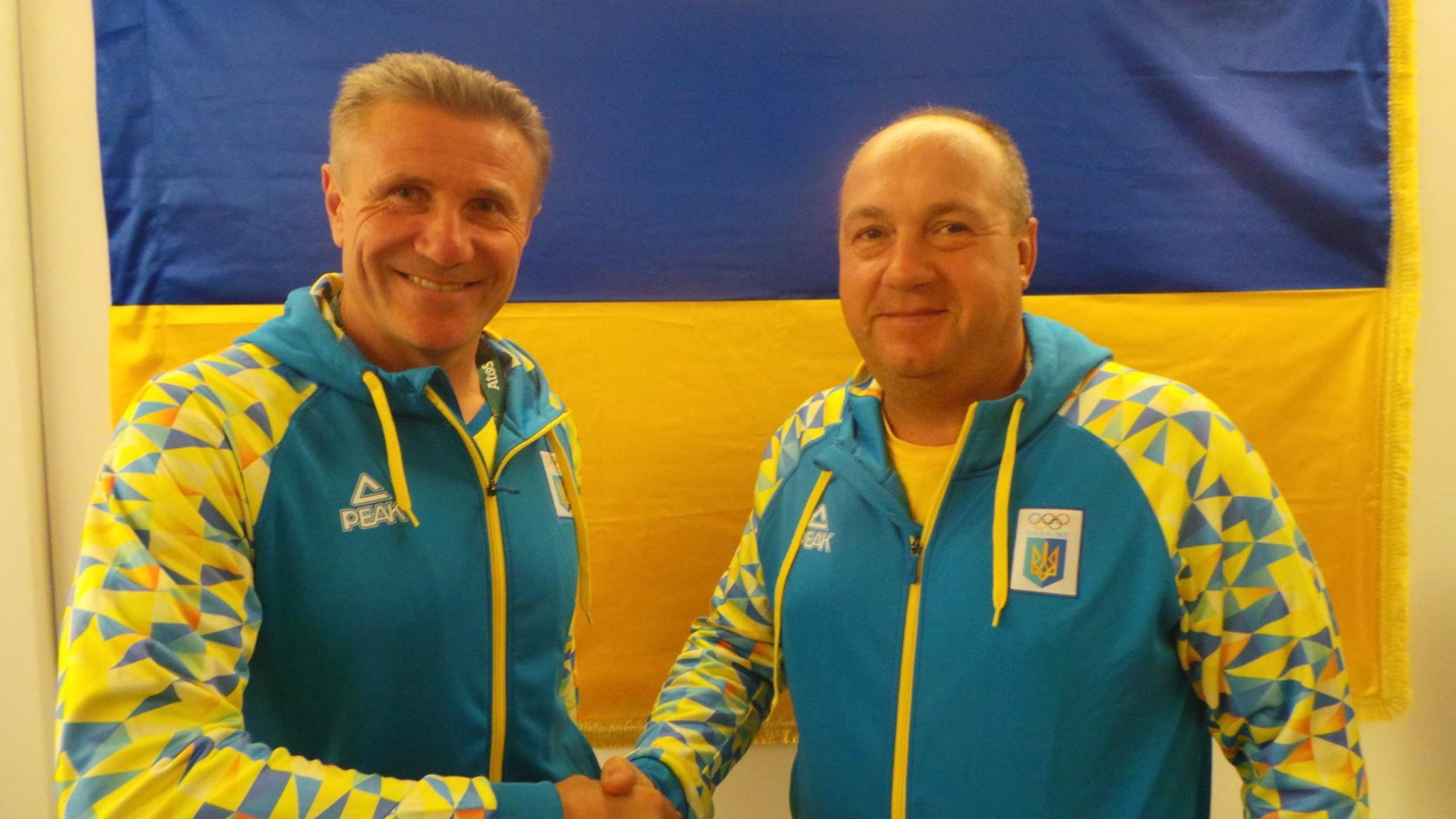Николай Мильчев и президент НОК Сергей Бубка