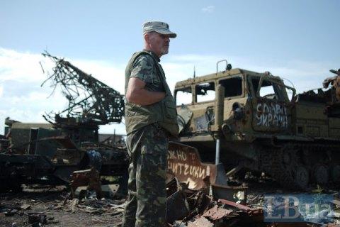 Боевики вечером субботы трижды обстреляли позиции украинских военных, - пресс-центр АТО