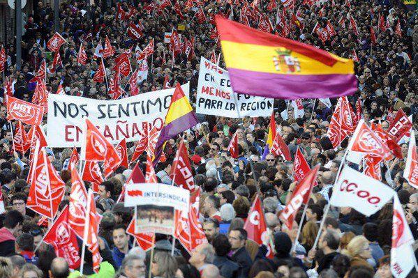 Протесты в Испании против безработицы