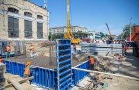 В Киеве начали строить бетонные конструкции под новый Шулявский путепровод