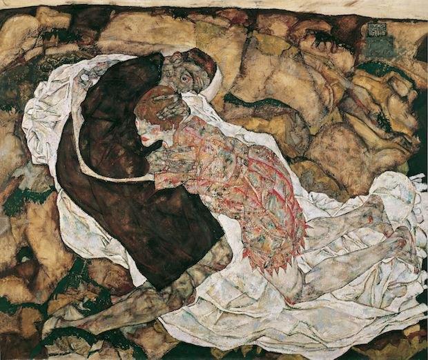 *Смерть и девушка* Эгон Шиле. 1915
