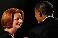 Премьер Австралии пожаловалась Обаме на участь женщины-политика
