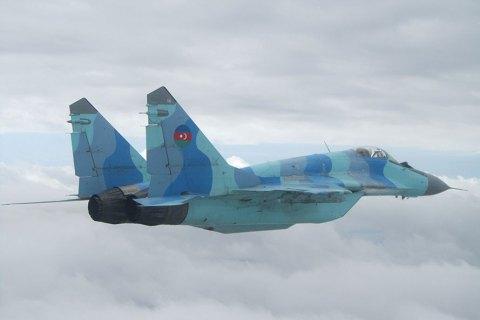 Азербайджанский МиГ-29 упал в Каспийское море