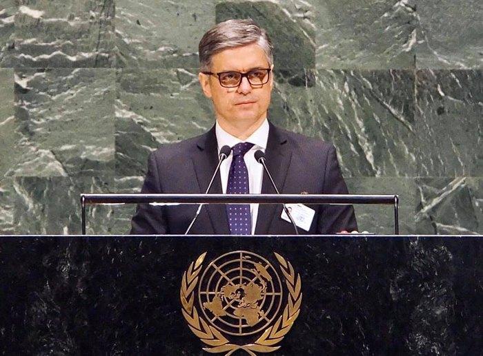 Вадим Пристайко выступает <b>на Генассамблее ООН</b>