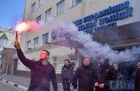 """У Херсоні активісти руху """"Хто вбив Катерину Гандзюк?"""" провели акцію протесту під будинком Рищука"""