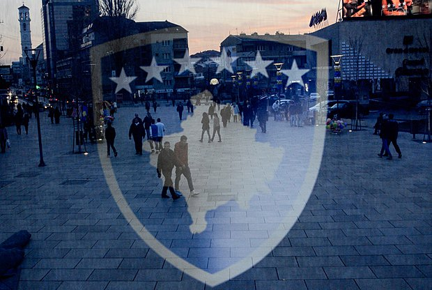 Перед праздованием Дня Независимости Косово, Приштина, 16 февраля, 2014