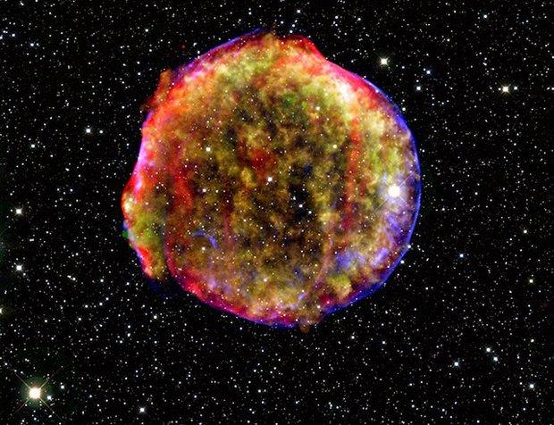 Остатки сверхновой SN 1572