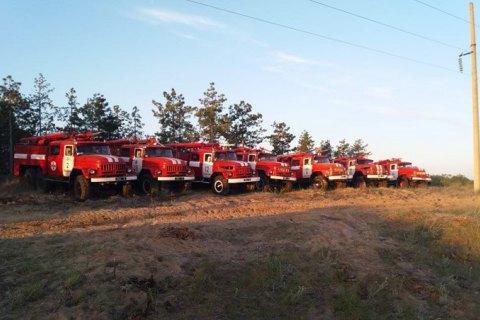Пожежники продовжують боротися з лісовою пожежею в Херсонській області