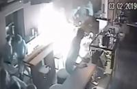 В Днепре подожгли кофейню с посетителями