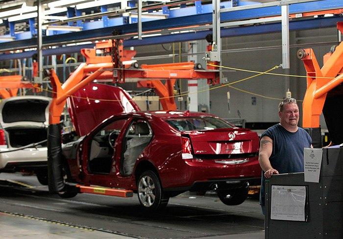 Производство на заводе General Motors, Луисвилл, Кентукки.