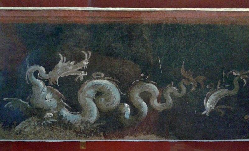 Деталь фрески из Храма Исиды, Египет, 1 ст. н.э.