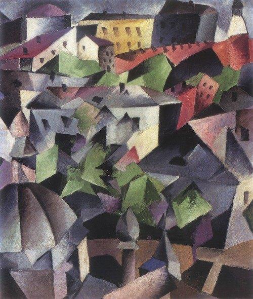 «Міський пейзаж. Київ». 1912-1913. Олія, полотно.